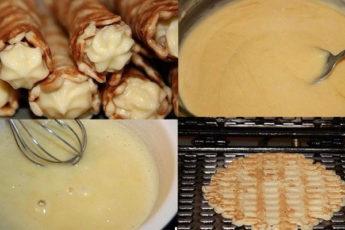Как приготовить дома любимые вафельные трубочки